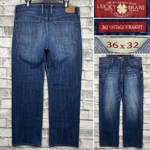Lucky Brand 361 Vintage Straight Jeans Sz 36 x 32